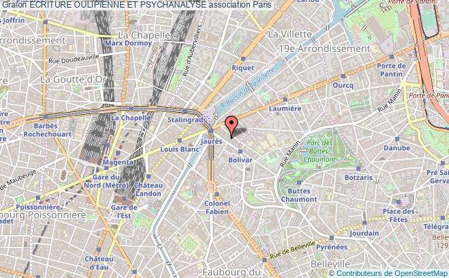 plan association Ecriture Oulipienne Et Psychanalyse