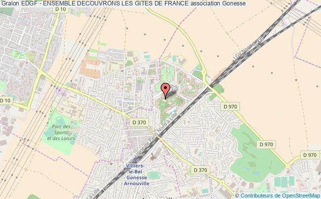 plan association Edgf - Ensemble Decouvrons Les Gites De France Gonesse