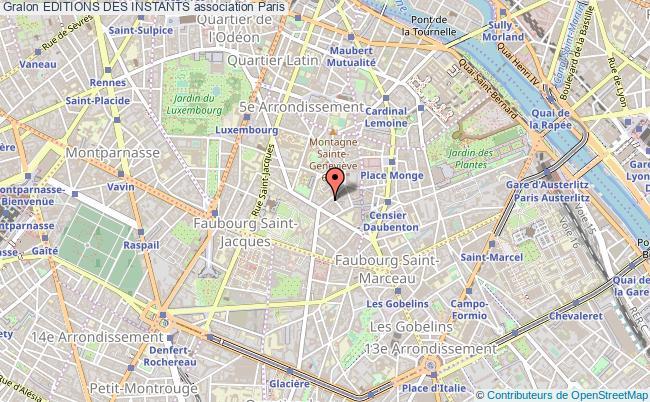 plan association Editions Des Instants Paris