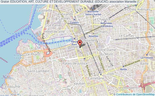 plan association Éducation, Art, Culture Et DÉveloppement Durable (educac) Marseille