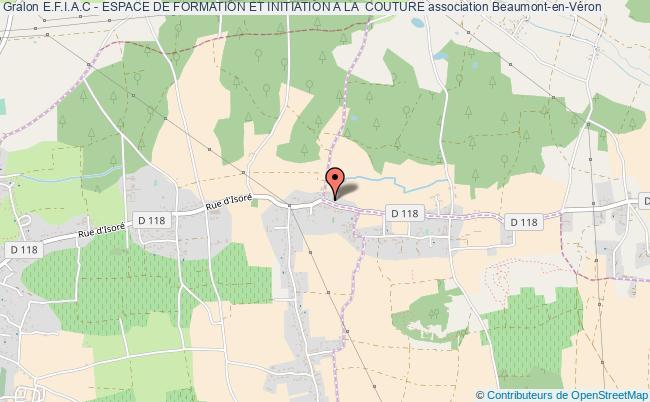 plan association E.f.i.a.c - Espace De Formation Et Initiation A La  Couture Beaumont-en-Véron