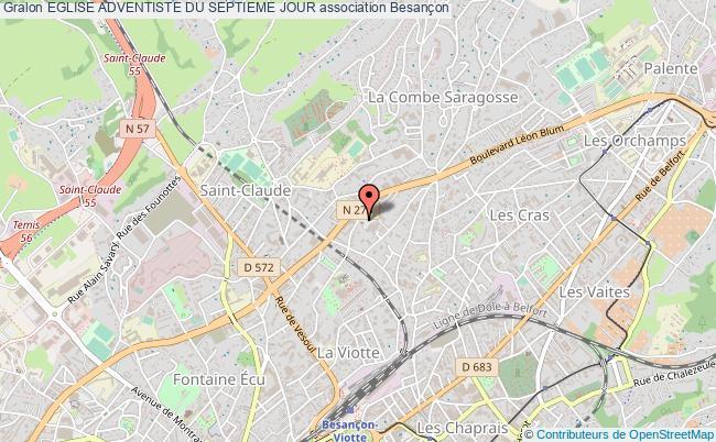 plan association Eglise Adventiste Du Septieme Jour Besançon