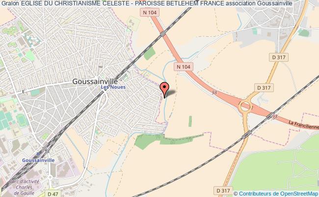 plan association Eglise Du Christianisme Celeste - Paroisse Betlehem France Goussainville