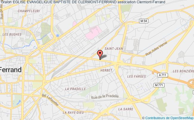 plan association Eglise Evangelique Baptiste De Clermont-ferrand