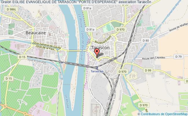 "plan association Eglise Evangelique De Tarascon ""porte D'esperance"""