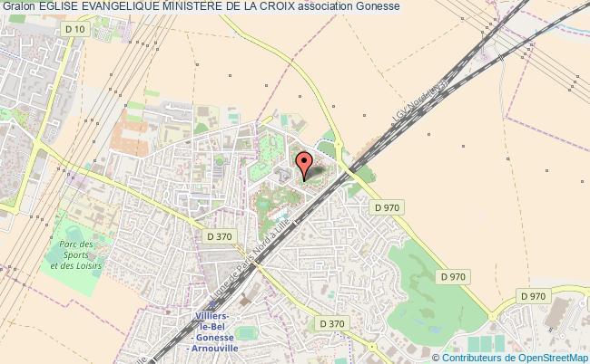 plan association Eglise Evangelique Ministere De La Croix Gonesse