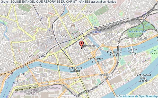 plan association Eglise EvangÉlique RÉformÉe Du Christ, Nantes