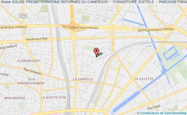 plan association Eglise Presbyterrienne Reformee Du Cameroun  -  Consistoire Zoetele  -  Paroisse France-suisse - Chapelle De Paris (eprc - Paris)