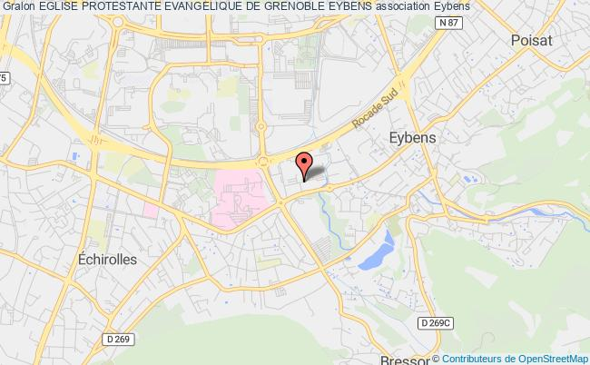 plan association Eglise Protestante Evangelique De Grenoble Eybens