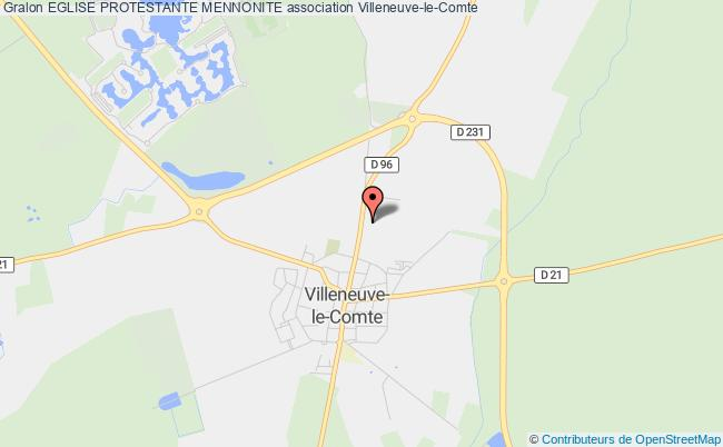 plan association Eglise Protestante Mennonite Villeneuve-le-Comte