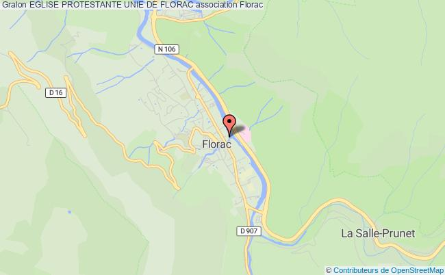 plan association Eglise Protestante Unie De Florac