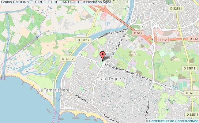 plan association Embonne Le Reflet De L'antiquite Agde
