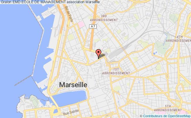 plan association Emd Ecole De Management Marseille cedex 03