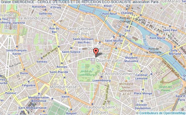 plan association Emergence - Cercle D'etudes Et De Reflexion Eco-socialiste Paris