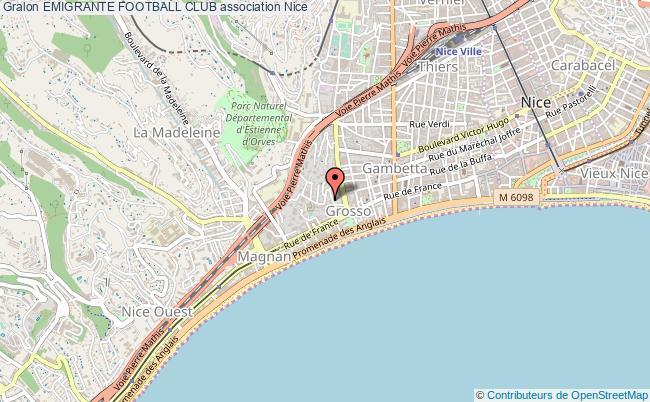 plan association Emigrante Football Club Nice