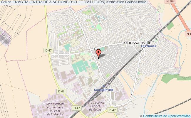 plan association En'actia (entraide & Actions D'ici Et D'ailleurs) Goussainville