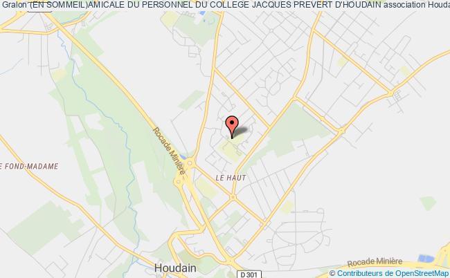 plan association (en Sommeil)amicale Du Personnel Du College Jacques Prevert D'houdain
