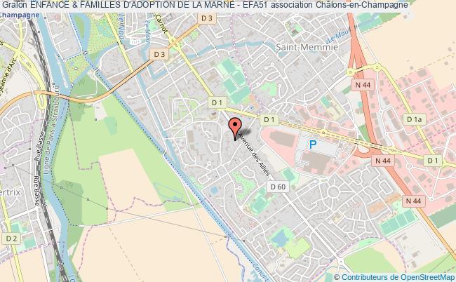 plan association Enfance & Familles D'adoption De La Marne - Efa51