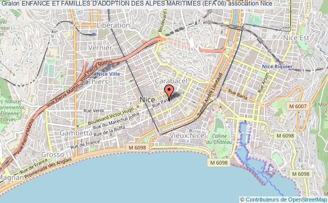 plan association Enfance Et Familles D'adoption Des Alpes Maritimes (efa 06) Nice