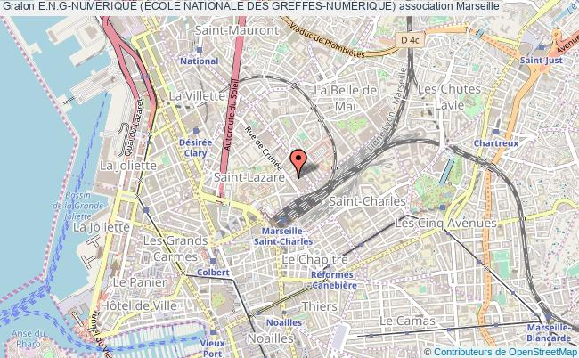 plan association E.n.g-numÉrique (École Nationale Des Greffes-numÉrique) Marseille