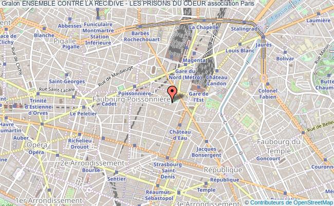 plan association Ensemble Contre La Recidive - Les Prisons Du Coeur Paris