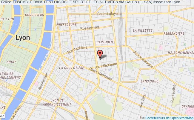 plan association Ensemble Dans Les Loisirs Le Sport Et Les ActivitÉs Amicales (elsaa)