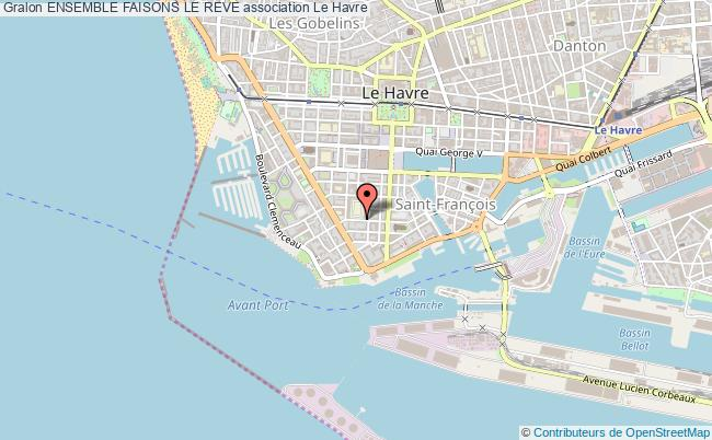 plan association Ensemble Faisons Le Reve Le    Havre