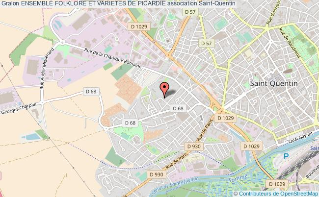 plan association Ensemble Folklore Et Varietes De Picardie