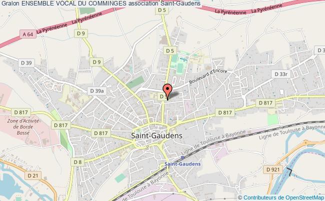 plan association Ensemble Vocal Du Comminges Saint-Gaudens