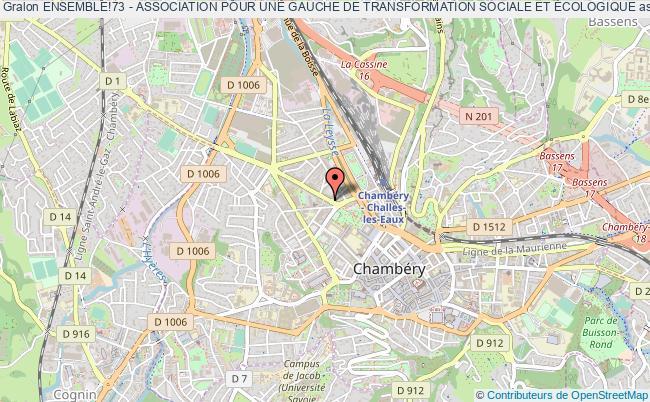 plan association Ensemble!73 - Association Pour Une Gauche De Transformation Sociale Et Écologique
