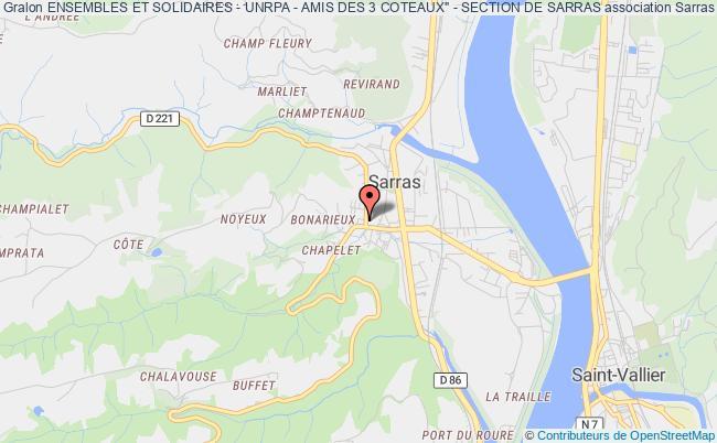 """plan association Ensembles Et Solidaires - Unrpa - Amis Des 3 Coteaux"""" - Section De Sarras"""