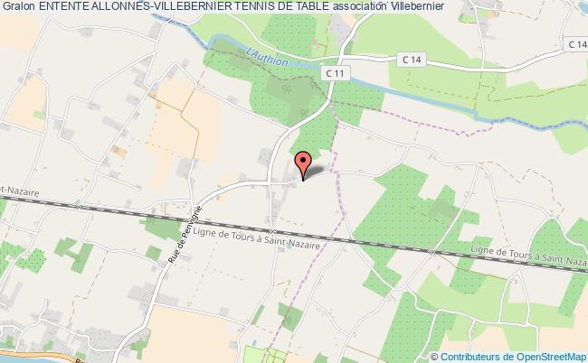 plan association Entente Allonnes-villebernier Tennis De Table Villebernier