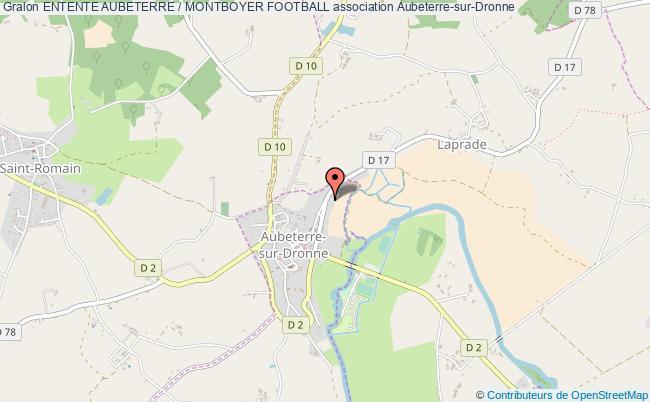 plan association Entente Aubeterre / Montboyer Football Aubeterre-sur-Dronne