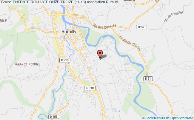 plan association Entente Bouliste Onze-treize (11-13) Rumilly