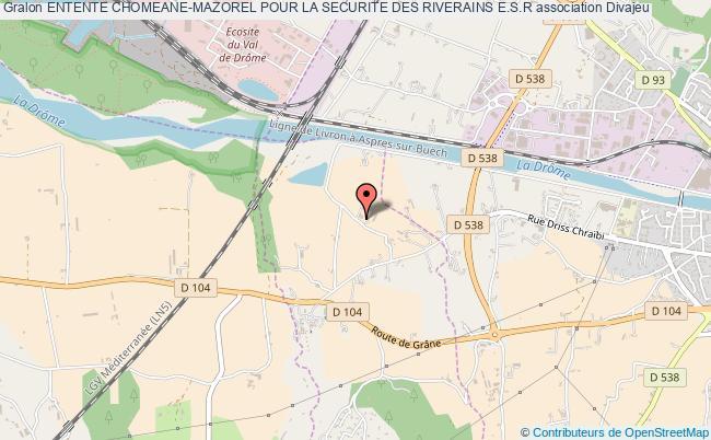 plan association Entente Chomeane-mazorel Pour La Securite Des Riverains E.s.r Divajeu