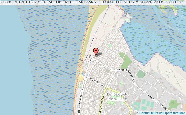 plan association Entente Commerciale Liberale Et Artisanale Touquettoise Eclat Le Touquet-Paris-Plage