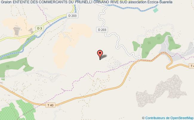 plan association Entente Des Commercants Du Prunelli Ornano Rive Sud