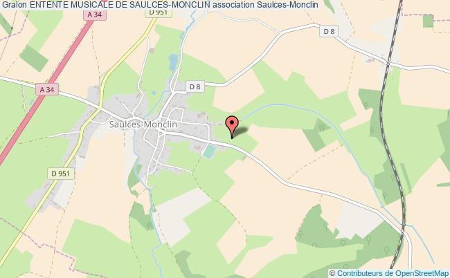 plan association Entente Musicale De Saulces-monclin