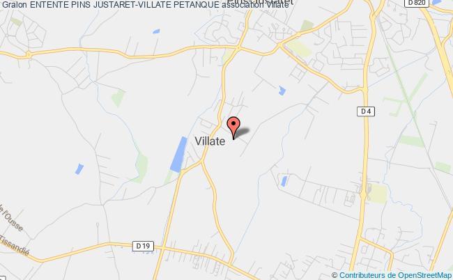plan association Entente Pins Justaret-villate Petanque