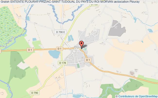 plan association Entente Plouray-priziac-saint Tudgual Du Pays Du Roi Morvan