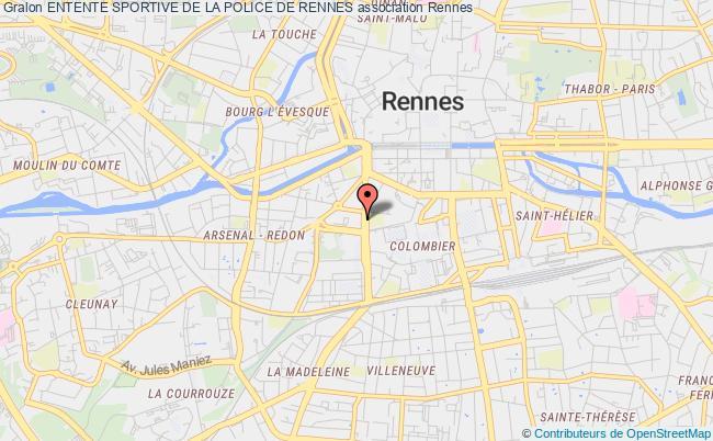 plan association Entente Sportive De La Police De Rennes Rennes