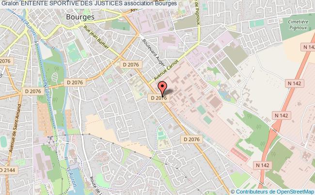 plan association Entente Sportive Des Justices Bourges