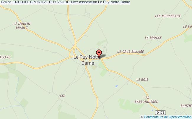 plan association Entente Sportive Puy Vaudelnay Le    Puy-Notre-Dame