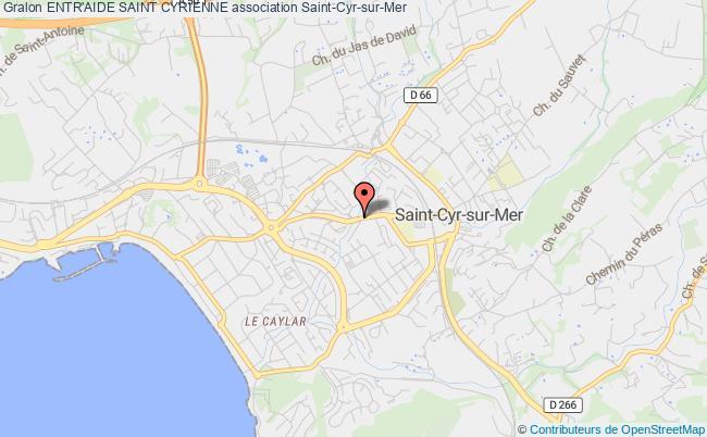 plan association Entr'aide Saint Cyrienne