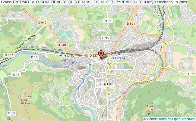 plan association Entraide Aux ChrÉtiens D'orient Dans Les Hautes-pyrÉnÉes (echo65) Lourdes