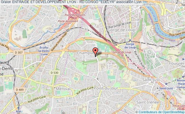 """plan association Entraide Et Developpement Lyon - Rd Congo """"edelyr"""""""