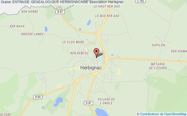 plan association Entraide Genealogique Herbignacaise Herbignac