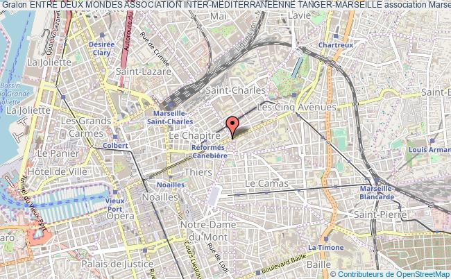 plan association Entre Deux Mondes Association Inter-mediterraneenne Tanger-marseille Marseille