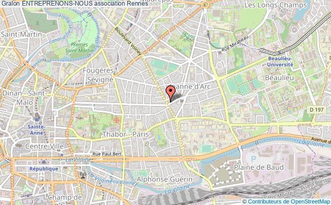 plan association Entreprenons-nous Rennes