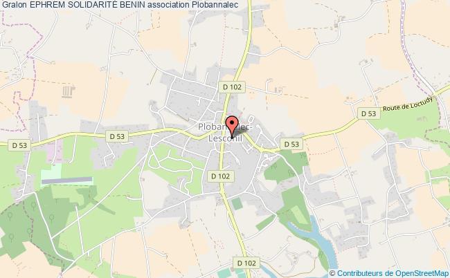 plan association Ephrem SolidaritÉ Benin Plobannalec-Lesconil